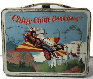 Vintage 1968 Chitty Chitty Bang Bang Metal Lunch Box RARE Thermos Brand EUC
