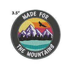 New ListingMade For The Mountains Embroidered Patch Iron-on / Sew-on Nature Lover Applique
