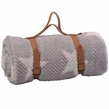 "BOON Star Flannel Travel Throw Blanket, 50"" x 70"", Silver"