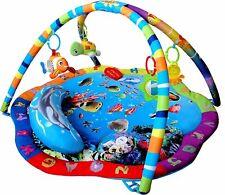 Just4baby Light & Musical Baby Ocean Playmat Activity Play Mat Gym Sea Life Fish