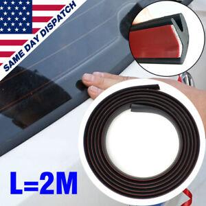 2m Car Rubber Front Rear Windshield Panel Seal Strip Windscreen Moulding Trim US