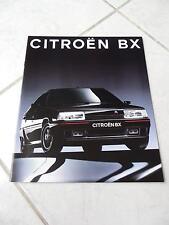 Citroen BX gamme 16s Evasion 1991 sales brochure prospekt catalogue