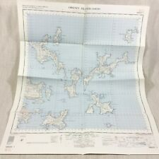 1970 Vintage Military Map of The Orkney Islands Scotland North Sanday Westray