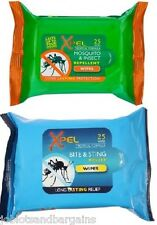 Xpel Mosquito & Insect Repellent Wipes (25) + Bite & Sting Relief Wipes (25)