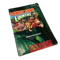 Donkey Kong Country Instruction MANUAL ONLY SNES Super Nintendo