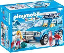 Playset AUTO SUV SCIATORE Neve Playmobil 9281 Family Fun SKIER CAR New XMAS 2017