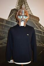 Lacoste Men's Navy Blue  Woolen Jumper/Sweater Size 4 (Medium)Devanlay
