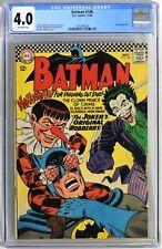 S048. BATMAN #186 by DC Comics CGC 4.0 VG (1966) JOKER Cover by MURPHY ANDERSON
