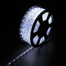 Blue LED Rope 100ft 110V 2 Wire Flexible DIY Lighting Outdoor Christmas US