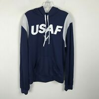USAF US Air Force Pullover Jacket Size M Lightweight Navy Blue Hooded Mens