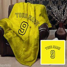 Personalizado Amarillo diseño de Fútbol Suave Manta Polar Grande Silla Cama