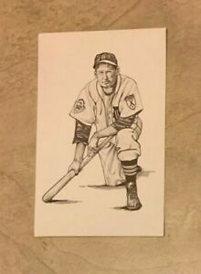 George Kell Detroit Tigers Postcard 1989 Ted Williams Thumper Litho Baseball