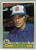 1979 Topps Phil Niekro #595 Atlanta Braves NM Near Mint Set Break HOF