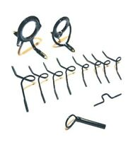 Fly rod black double foot guides set. Very good quality