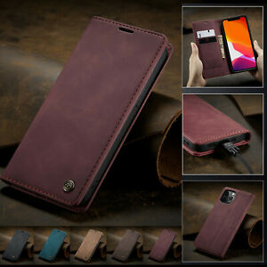 For iPhone 13 12 Pro Max 11 XS XR 8 76+ Leather Wallet Case Magnetic Flip Cover