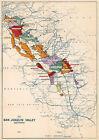 1930+Map+of+the+San+Joaquin+Valley%2C+California+11%22x16%22+Art+Print+Decor+Artwork