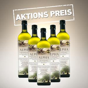 "Angebot für 5 Stück 1lt Natives Olivenöl Extra PREMIUM ""ALPHA"""