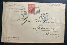 1896 Barranquilla Colombia Commercial Cover To Locarno Switzerland Via Bordeaux