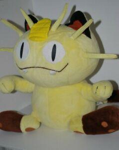 "Vtg Pokemon MEOWTH 1999 17"" Plush Soft Toy Nintendo Hasbro Tomy Gen.1 JumboGiant"