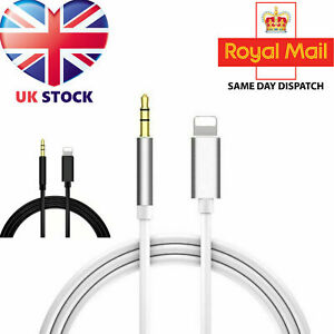 Lighting to 3.5mm Jack AUX Adapter Cable Car Audio For iPhone6 7 8 X XS 11 12 UK