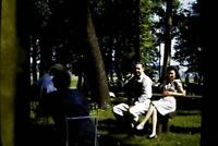 35mm Colour Slide- Just sitting under the trees in the Park 1960's   USA