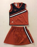 University Of Texas Longhorns Cheerleader Uniform Cheer Outfit Toddler Girls 2T