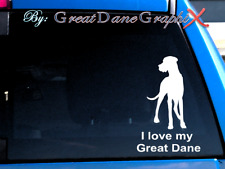 "I love my Great Dane ""Natural"" -Vinyl Decal Sticker -Color Choice -High Quality"