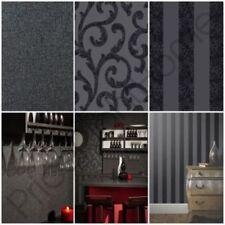 Rouleaux de papier peint noir Arthouse