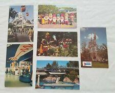 Vintage Disneyland Postcard Lot Seven Dwarfs Matterhorn Mountain Headhunter Coun