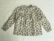 Bonpoint Girls Long Sleeved Floral Blouse - 8 Years - 100% Cotton