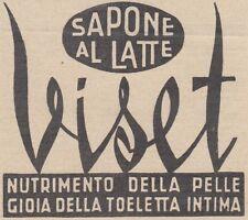 V0040 Sapone al latte VISET - Pubblicità d'epoca - 1938 vintage advertising