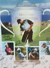 Mercedes Championship 2001 frame poster Tiger Woods autographed plus more.