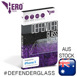 iPhone X Tempered Glass, Genuine HeroTech. Defender Glass screen protector