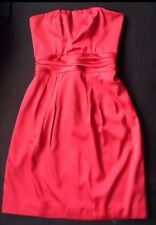 PILGRIM Size 8 Red Satin Dress Sleeveless Dress With Tie Back Beautiful