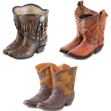 New Set of 3 Cowboy Boots Planters Western Patio Garden Sun Room Home Decor