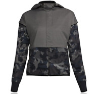 Under Armour Womens Unstoppable Gore Windstopper Jacket Top Black Grey Sports XS