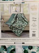 Virah Bella Quilted Reversible Throw Blanket Peony Stripe