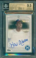 2017 2018 Topps Transcendent Hank Aaron VIP Party Autograph 25/25 BGS 9.5/10