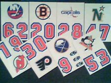 1989-90  TOPPS NHL HOCKEY TEAMS 8-STICKER INSERT CARD SET