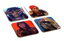 Dave Chappelle Skits 4 Piece Wooden Coaster Set
