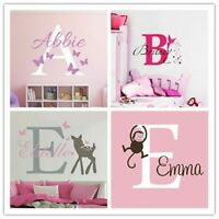 Personalized Name Baby Nursery Room Wall Sticker Custom Name For Girl Boy Wall