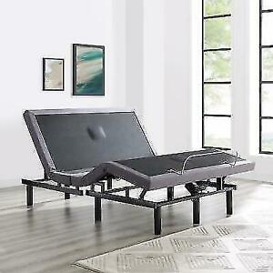 Naomi Home Adjustable Twin XL Size Bed - Gray 85307