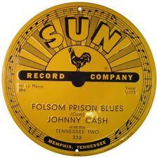 Johnny Cash - Folsom Prison Blues - Sun Records - 12 X 12 Sign