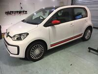 VW Up Side Stripes Stickers Decal Graphics seat mii city go golf beetle sport