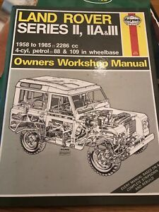 Haynes Land Rover Manual Series 2, 2A And 3
