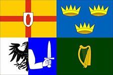 New listing 3x5 inch Four Provinces of Ireland Flag Sticker (Irish Celt Celtic Banner)