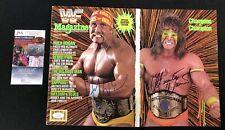 Hulk Hogan & Ultimate Warrior Signed WWF Fold Out Cover Magazine JSA COA WWE