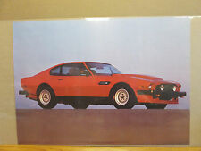 vintage 1985 Aston Martin Vantage classic car poster   8123