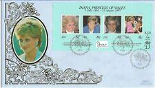 Fiji 1998 Benham Princess Diana MS FDC