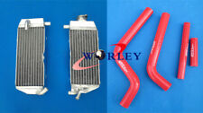 Aluminum radiator + Red silicone hose for YAMAHA YZ125 2002 2003 2004 02 03 04